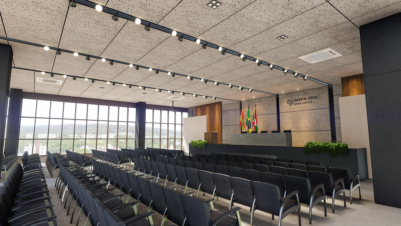 Dois auditórios, equipados e climatizados para até 170 pessoas