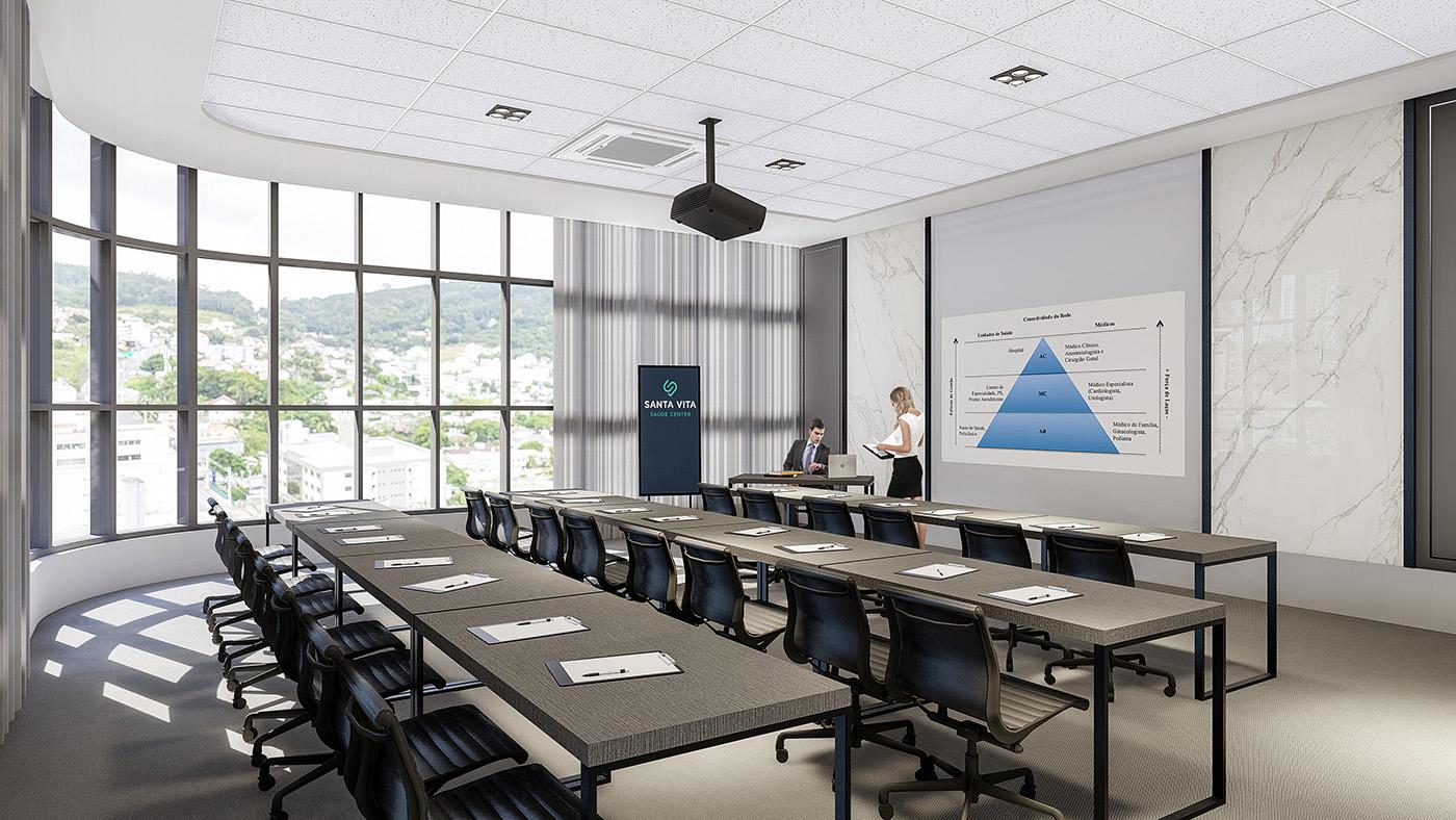 Nove salas para reuniões e treinamentos, equipadas e climatizadas